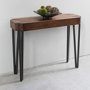 Hamburg Canyon Oak Wood Veneer Console Table