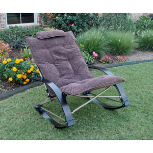 Folding Rocking Chair with Extendable Footrest