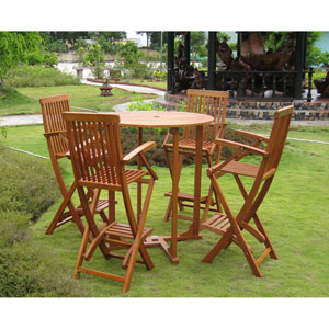 Lugo Set of 5 Bar Height Table Group