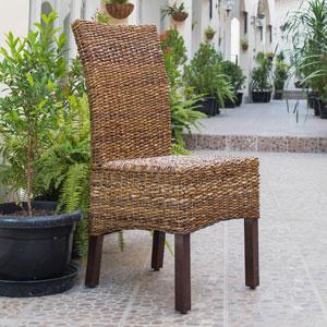 Set of Two Arizona Abaca Dining Chairs