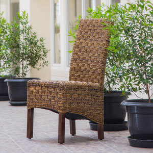 Manila Brown Mahogany Dining Chair, Set of Two