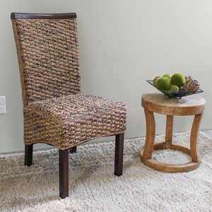 Bunga Hyacinth Dining Chair, Salak Brown