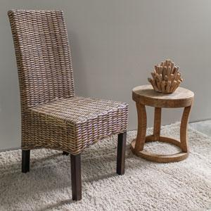 Java Rattan Dining Chair, Salak Brown