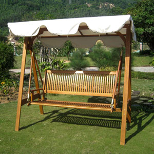 Royal Tahiti 3 Seater Swing with A-Frame and Canopy