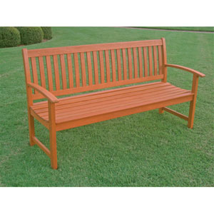 Royal Tahiti Outdoor Wood Three Seat Bench