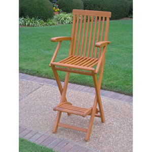 Royal Tahiti Outdoor Folding Bar Chair-Set of Two