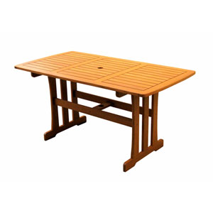 Royal Tahiti Outdoor Wood Rectangular Dining Table