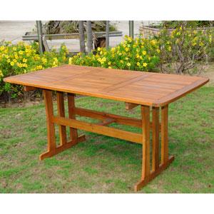 Acacia Rustic Brown Rectangular Dining Table