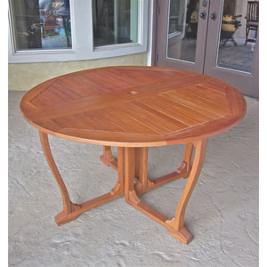 Royal Tahiti Round Wood Gate Leg Table
