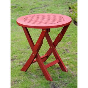 Acacia Round Folding Table