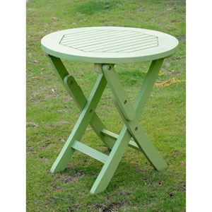 Acacia Mint Green Round Folding Table