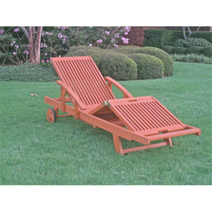 Royal Tahiti Outdoor Chaise Lounge with Multi Sectional Deck