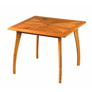 Royal Tahiti Outdoor Square 36-Inch Wood Table