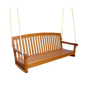 Royal Tahiti 59-Inch Wood Three Seat Swing