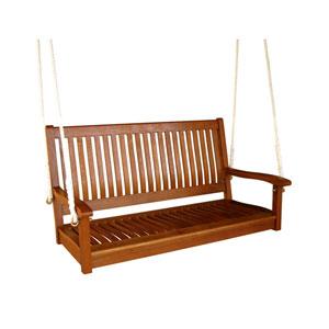 Royal Tahiti Straight Back Wood Two Seat Swing