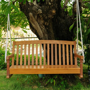 Acacia Two Seater Swing With Curved Back