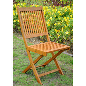 Royal Tahiti Outdoor Folding Garden Chair, Set of Two