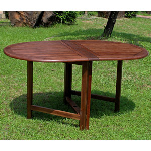 Highland Acacia Miami Oval Gate Leg Folding Dining Table