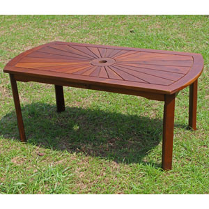 Highland Acacia Sunburst Coffee Table