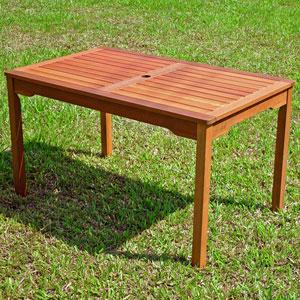 Acacia Brown Rectangular Dining Table