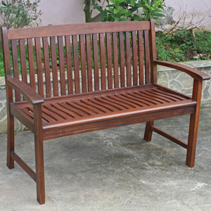 Highland Acacia Hudson Two Seater Park Bench
