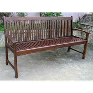 Highland Acacia Hudson Three Seater Park Bench