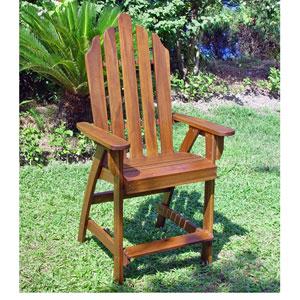 Acacia Wood Adirondack Bar Chair Set Of Two