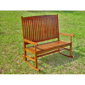 Acacia Wood Outdoor Double Porch Rocker