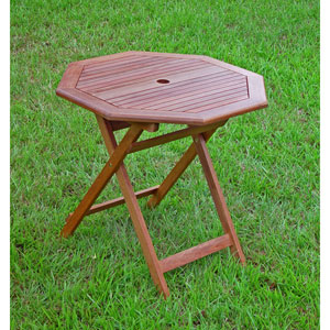 Acacia Wood Outdoor 30-Inch Octagonal Folding Table