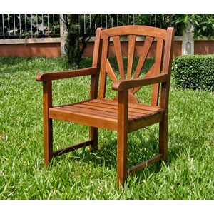 Sapporo Acacia Wood Outdoor Chair- Set of Two