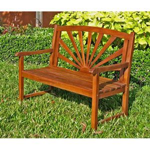 Sapporo Acacia Wood Outdoor Bench