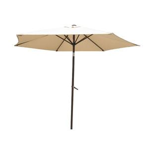 8 Ft. Beige Outdoor Aluminum Umbrella