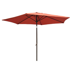 8 Ft. Terra Cotta Outdoor Aluminum Umbrella