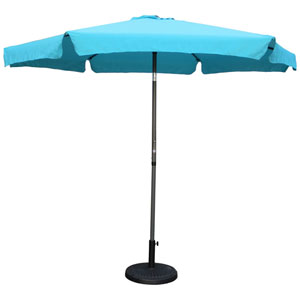 Outdoor 9 Foot Aluminum Umbrella With Flaps