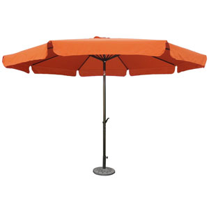 Outdoor 12 Foot Aluminum Umbrella With Flaps