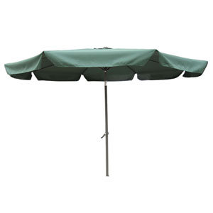 10 Ft. Forest Green Outdoor Aluminum Umbrella with Flaps