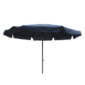 10 Ft. Navy Outdoor Aluminum Umbrella with Flaps