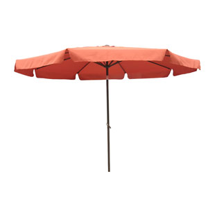10 Ft. Terra Cotta Outdoor Aluminum Umbrella with Flaps