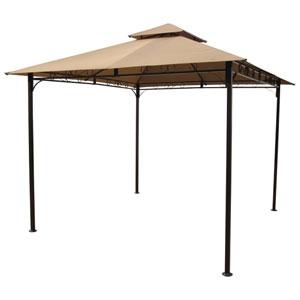 Square Vented Canopy Gazebo, Khaki