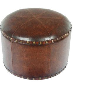 Mini Round Faux Leather Stool