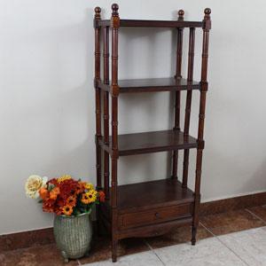 Windsor 4-Tier Bookshelf, Stain