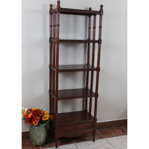 Windsor 5-Tier Bookshelf, Stain