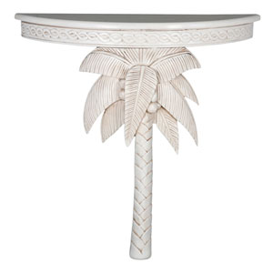 Windsor Carved Exotic Palm Tree Wall Table