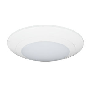 Relyence White 6-Inch 650 Lumen 3000K LED Flush Mount