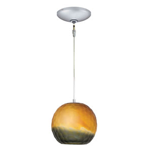 Envisage VI Satin Nickel One-Light Low Voltage Mini Pendant with Bronze Smoke Glass
