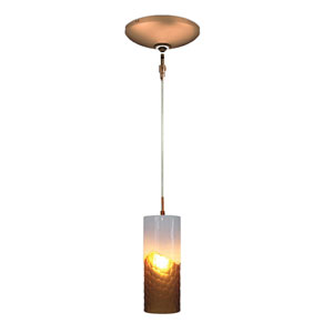 Envisage VI Bronze One-Light Low Voltage Mini Pendant with Amber and White Shade