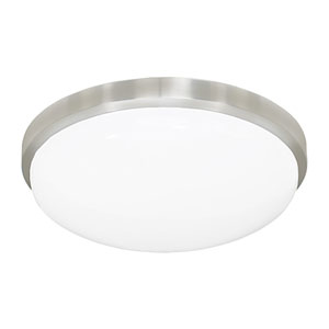 Brushed Aluminum 14.5-Inch One-Light LED Flush Mount, 3000K