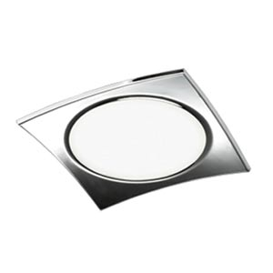 Grok Nuage Large Chrome Flush Mount