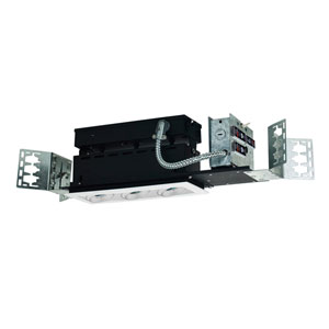 White Three-Light Low Voltage Linear New Construction Fixture