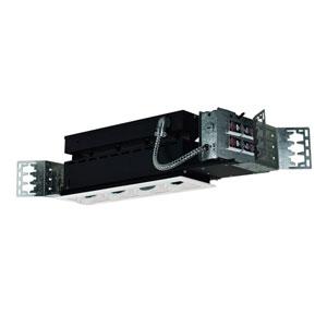 White Four-Light Low Voltage Linear New Construction Fixture